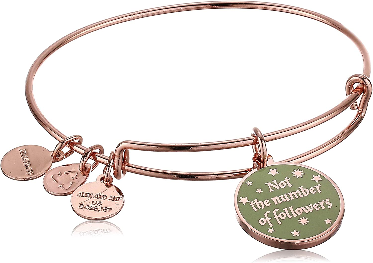 Alex and Ani Harry Potter, It is The Quality of One's Convictions EWB, Shiny Rose Gold
