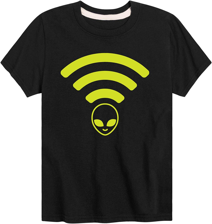 WiFi Alien Head - Youth Short Sleeve Graphic T-Shirt