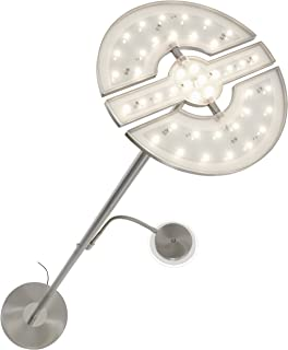 Briloner Leuchten 1326-022 Lampadaire LED dimmable - avec tête 3 en 1 modulable et liseuse flexible - variateur tactile - ...