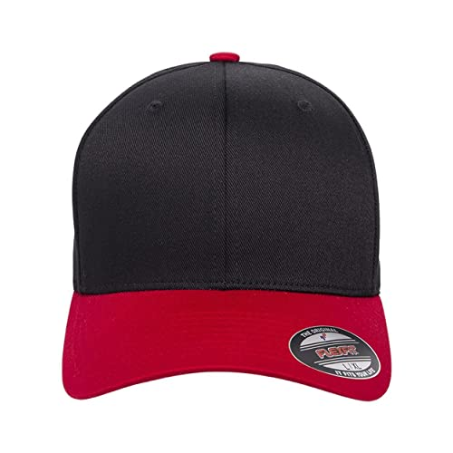 Black and Red Men s Fitted Hats  Amazon.com 28d94437ef67