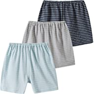 Baby Shorts 3-Pack Toddler Boys Small Cotton Pants