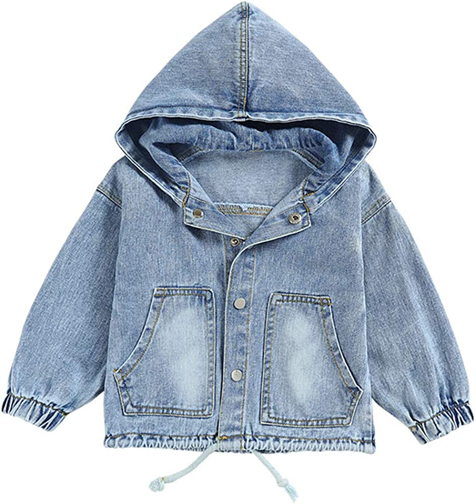 Special price Peacolate 1-6Years Boys Kids AutumWinter Denim Hoodies 1 Japan's largest assortment Jacket