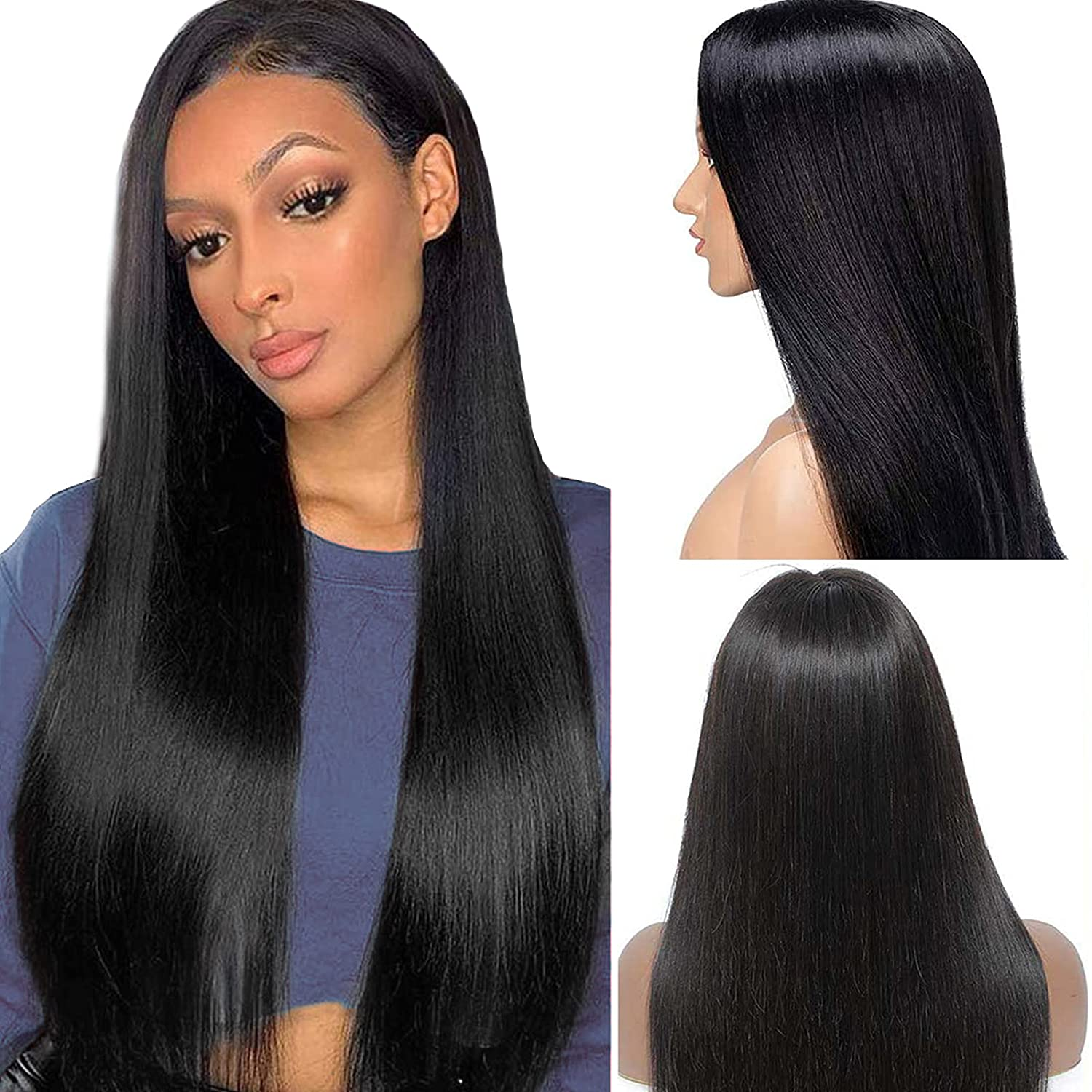 Mgsdjie Lace Front 5 ☆ popular Wigs Human Hair Density Pre Plucked with Award 150%