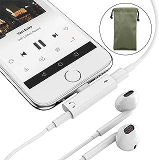 【2 in 1×コンパクト】iPhone イヤホン変換ケーブル3.5mm イヤホン 変換ケーブル 2IN1 (IOS10、11/12 対応) 音楽/充電 ライトニング Lightning 3.5 mmヘッドフォンジャックアダプタ 5V/1A iPhoneXs/Xs max/Xr/X/8/8plus/7/7plus - 2019進化版