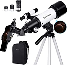 Deesoo Astronomical Telescopes for Kids Beginners - Portable Travel Scope FMC Lens with Adjustable Tripod Backpack Smartph...