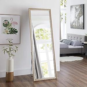 Naomi Home Diana Ornamental Full Length Floor Mirror Champagne/65 x 22