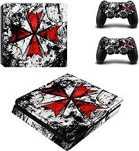 Resident Evil Biohazard Playstation 4 Slim Vinyl Skin Sticker Decal For Ps4 Slim