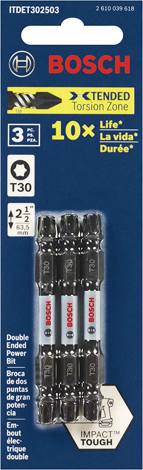Bosch ITDET30601 Impact Tough 6 In Torx #30 Double-Ended Bit