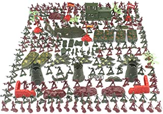 290PCS Army Action Figures Set, Mini Soldier Model Toys Plastic Military Army Men Figures Soldier Toy for Kids, Included T...