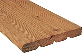 Pressure-Treated Cedar-Tone Wood Stair Step Tread, 2 in. x 12 in. x 4 ft.
