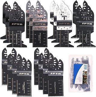 Sponsored Ad – SPTA 20Pcs Oscillating Saw Blades, Professional Wood/Metal/Plastic Universal Multitool, Quick Release Saw B...