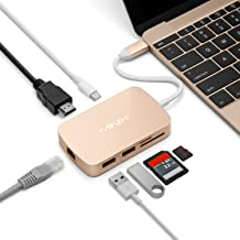 MINIX NEO C-X, USB-C Multiport Adapter with HDMI - Gold [10/100Mbps Ethernet] (Compatible with Apple MacBook and MacBook Pro). Sold Directly Technology Limited.