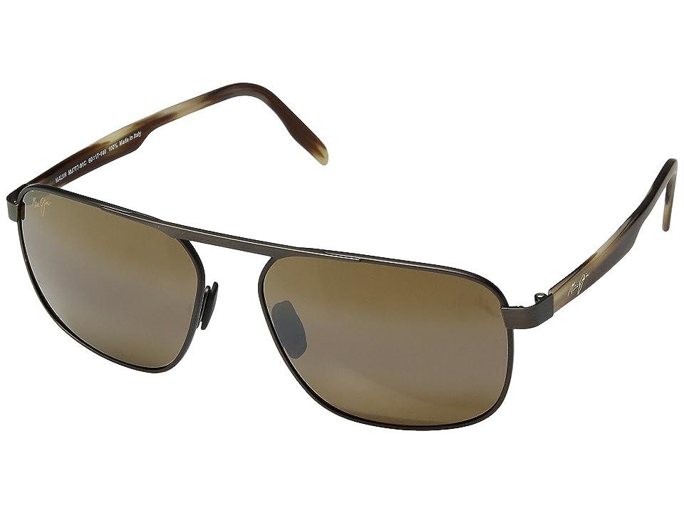 Maui Jim Waihee Ridge (Brushed Chocolate/HCL Bronze) Athletic Performance Sport Sunglasses
