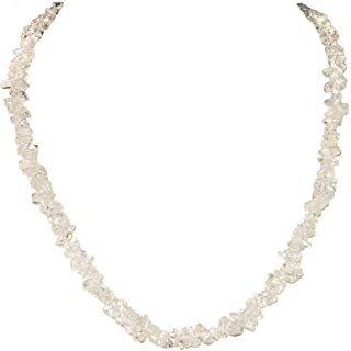 Zenergy Gems All Natural Gemstone Chip Necklaces (18 & 36 Inch Choices)