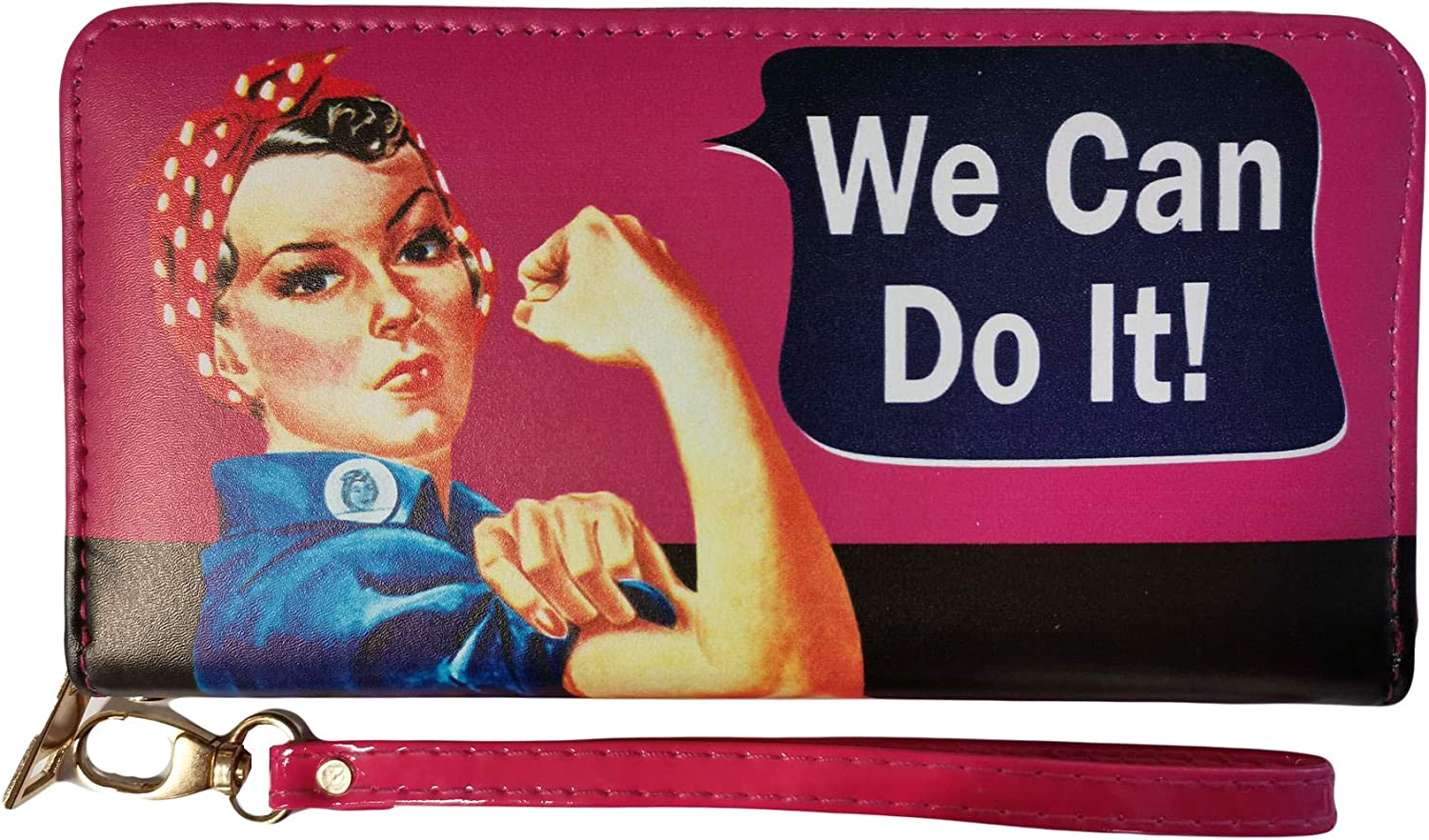 Rosie The Riveter Zipper Wallet It - Max 62% Popularity OFF We Can Do