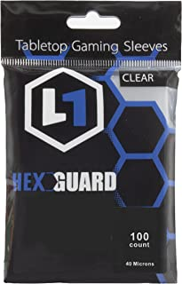 HexGuard Penny Sleeves Soft Card Sleeves for Standard Trading Cards (100 Sleeves)   Archival Safe, Compatible with Pokemon...