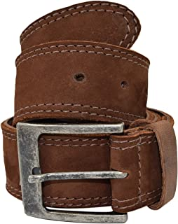 Men's Two Row Stitch Leather Belt Handmade by Hide & Drink Includes 101 Year Warranty :: Swayze Suede