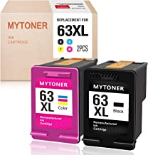 MYTONER Remanufactured Ink Cartridge for HP 63XL 63 XL 63 Ink for Officejet 5255 5258 3830 4650 3833 4655 Envy 4520 4512 4516 Deskjet 1112 2130 2131 3630 3633 3634 Printer (Black, Tri-Color)