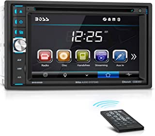 BOSS Audio BV9358B Car DVD Player - Double Din, Bluetooth Audio and Calling, 6.2 Inch LCD Touchscreen Monitor, MP3 Player, CD, DVD, Wma, USB, SD, Auxiliary Input, Am FM Radio Receiver