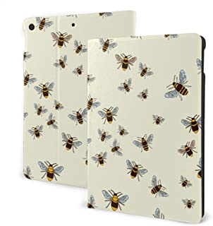 Bees Pattern Case for New IPad 7th Generation 10.2 Inch 2019 Multi-Angle Viewing Folio Smart Stand Cover Auto Wake/Sleep f...