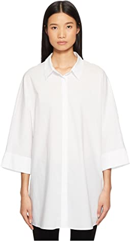 Neighty Button Up 3/4 Sleeve Top