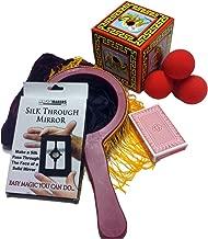 Complete Magic Set-Includes Zipper Change Bag, Red Sponge Balls, Dragon Production Box, Stripper Deck, Silk Thru Mirror