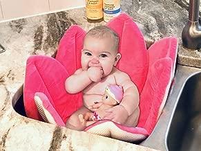 Baby Bath Flower for use in Sink or Bath by STORKY (Pink) Bath Tub Support, Infant Bath Seat, Baby Travel Bath