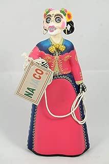 NAJACO Premium Mexican Lupita Doll, Charra Catrina (Skeleton Horsewoman) (Fuschia)