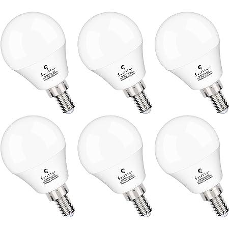 A15 Ceiling Fan Light Bulbs, E12 Base, 6Watt (60-Watt Replacement), Warm White 2700K, Non-Dimmable, Sailstar Candelabra Base LED Light Bulb, 6 Pack