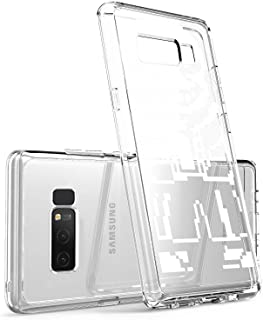 Clear Case for Samsung Galaxy Note 8, Video Game Undertale Characters Sans Pattern {Word} TPU Bumper Anti Scratch Thin Protective Cover