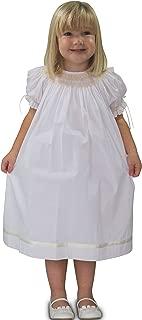 Little Girls Margaret Toddler Smocked Easter Dress Flower Girls White