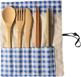 Basic Tool Set For Home,Portable Bamboo Cutlery Travel Eco-friendly Fork Spoon Set