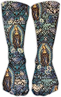 Patrón de la Virgen de Guadalupe Calcetines de compresión deportivos divertidos unisex Calcetines de barco para correr Calcetines Calcetines bajos