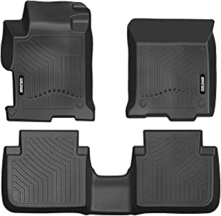 COOLSHARK Honda Accord Floor Mats, Floor Liners Custom Fit for 2013-2017 Honda Accord with Sedan Bodystyle (4 Full Size Doors),Front and Rear Rows Included-All Weather Protection, Black