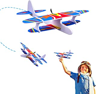 Ziwing Airplane Toys - Foam Glider Plane with Electric Motor for Kids Outdoor Throwing and Flying - Model Airplanes Kits to Build a Engineering Toy Airplane - Great STEM Toy Gift