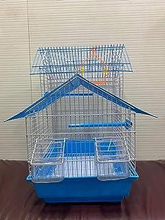 Bird cage for Budgies,Finches,Love Birds,Cuttlefish BoneHolder,Cuttlefish Bone,2perch,2Cups,Swing (10 x 13 x 18.5 Inches )...
