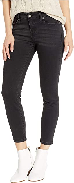 Petite Penny Ankle Skinny in Soft Stretch Denim in Carbon Wash