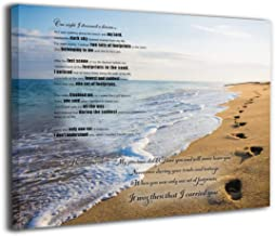 MFHS Footprints in The Sand Poem Canvas Print Art No Frame to Hang Home Decor Wall Decor, Canvas Print Wall Art Oil Painting Living Room Dining Room Bedroom Home Office Modern Wall Decor12x16in