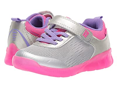 Stride Rite M2P Lighted Neo (Toddler) (Silver) Girls Shoes