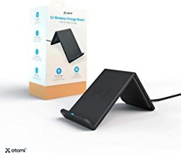 Atomi Wireless Tilt-Style Charge Stand 10W Qi Wireless Cell Phone Charger Compatible with Apple iPhone X/iPhone 8/8 Plus, Samsun