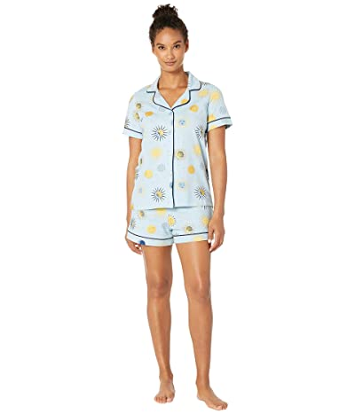BedHead Pajamas Short Sleeve Classic Shorty Pajama Set (Solstice) Women