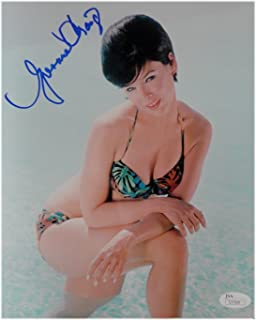 Yvonne Craig Signed Autographed 8X10 Photo Floral Bikini Sexy in Pool Pose JSA
