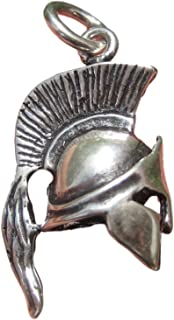 Himalayan Treasures 925 Silver Ancient Roman Gladiator Greek Spartan soldiers Helmet Pendant