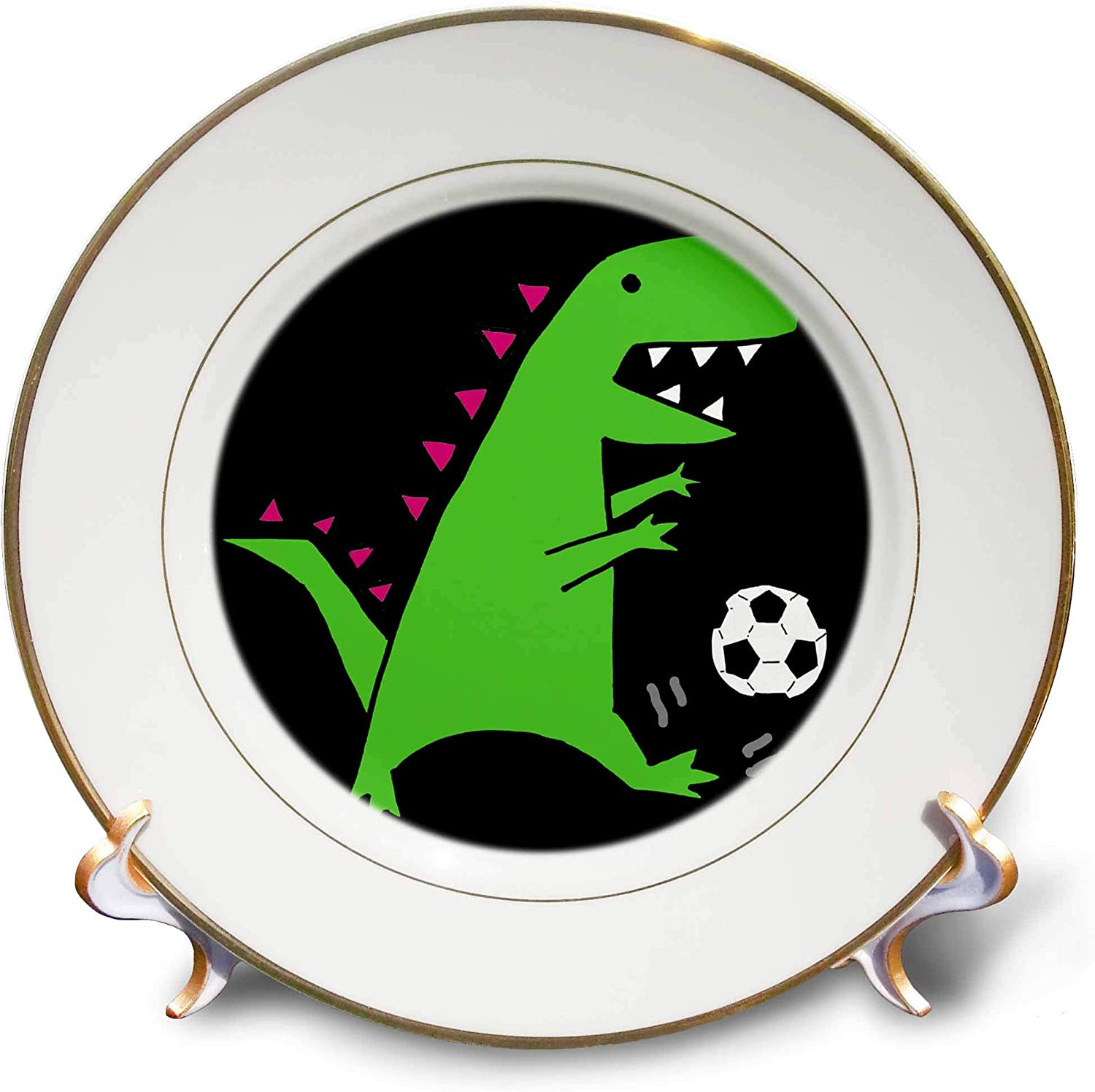 3dRose cheap Funny Cute Green T-rex Soccer Car Manufacturer direct delivery Playing Dinosaur Sports