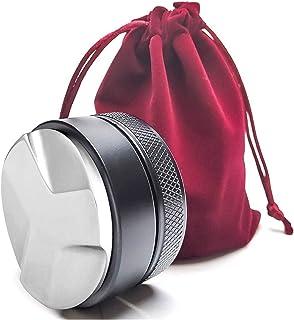 キッチン用品 53分の51/58ミリメートルコーヒー店、コーヒー店、コーヒー配布ツールプロフェッショナルエスプレッソハンド改ざん 付属品 (Base Diameter : 49mm, Color : Black)