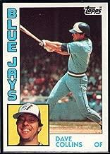 1984 Topps Baseball #733 Dave Collins Toronto Blue Jays Official MLB Trading Card Sharp Corners Guaranteed