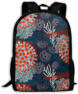 Fashion Tissus Marimekko Printed Backpack Waterproof Easy To Carry Canvas Outdoor Bags For Men And Women