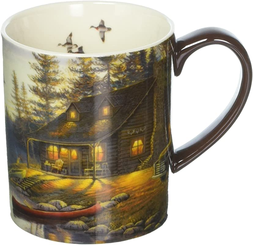 Lang Lake Retreat Mug By Sam Timm 14 Oz Multicolored