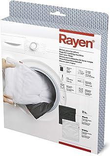 Rayen 6058.01 Bag protège Vos vêtements   avec Zipper Fermeture de la sécurité   Lave-Linge et séchoir, Blanc/Noir, 50 x 4...
