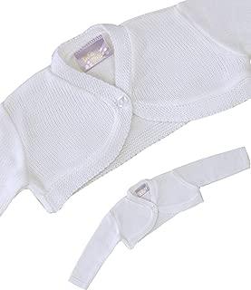 Baby Cardigan Jacket Acrylic Pink White Plain Bolero 0-23 mths